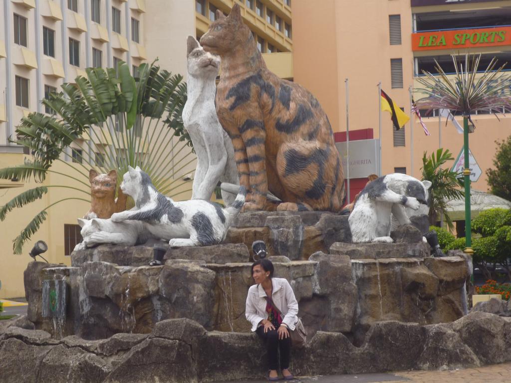 Rahasia Dibalik Warna Patung Kucing Di Kota Kuching Gubuk
